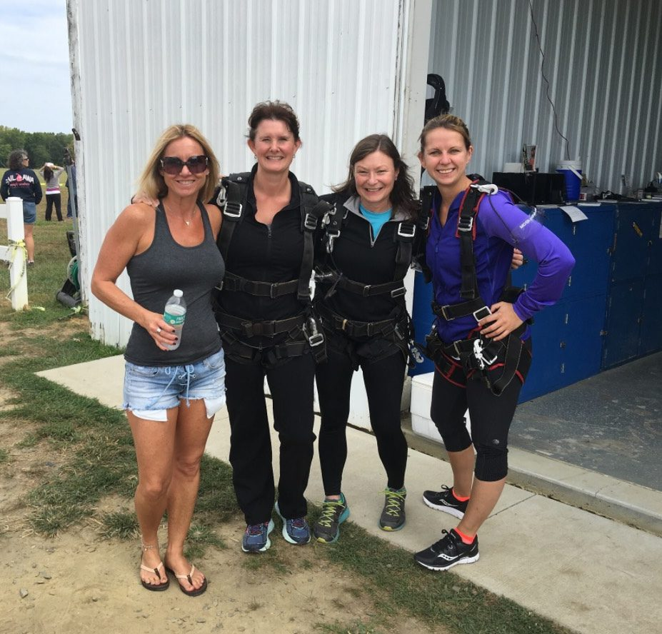 rising above addiction annual skydive fundraiser