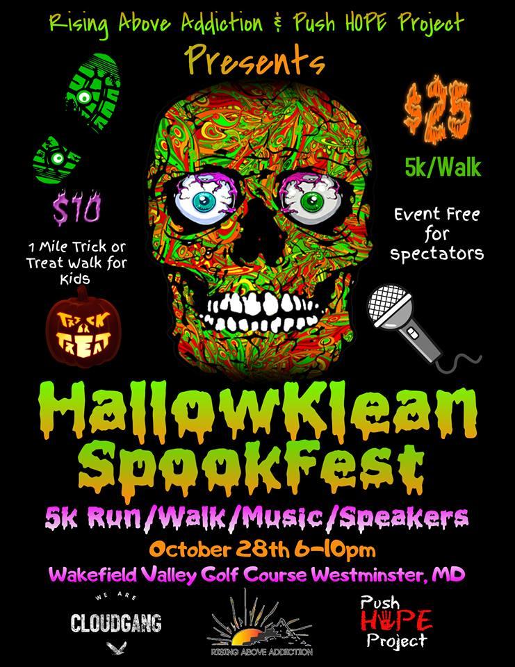Rising Above Addiction - Annual HallowKlean SpookFest 5K Race Fundraiser
