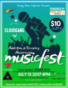 Addiction & Recovery Awareness MusicFest, benefiting Rising Above Addiction