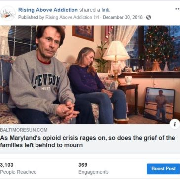 Baltimore Sun: As Maryland's opioid crisis rages on, so does the grief of the families left behind to mourn