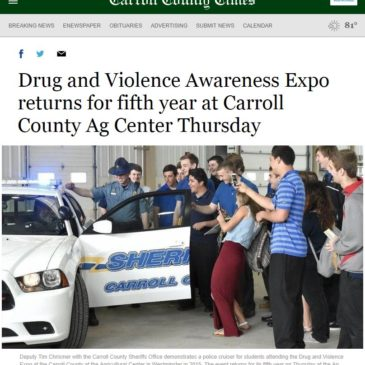 5th Annual Drug & Violence Expo featured in Carroll County Times